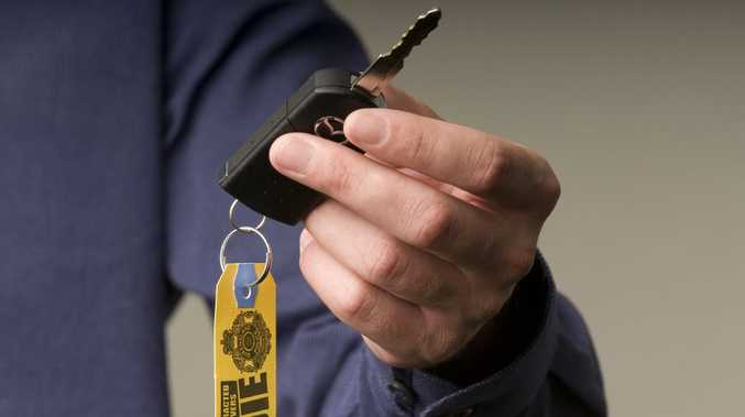 Police have distributed key tags with the message