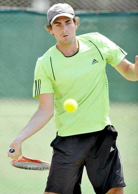 HE'S BACK: Lismore tennis player Nathan Moore has entered the Ballina New Year Open after a successful return from injury in a Lismore tournament last week.