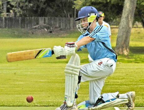 Toowoomba batsman Matt Littleproud fends one off during the clash with FNC in the Ballina Under-13 Cricket Carnival.