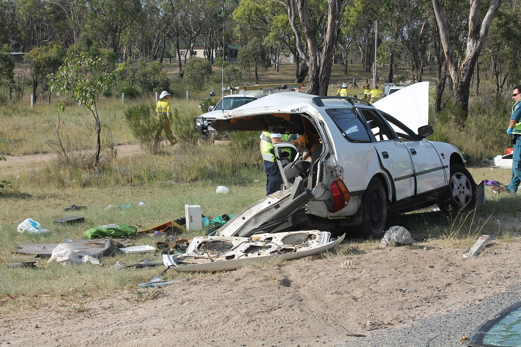 A man was killed and three others injured when the car in which they were travelling collided with a truck on the New England Hwy, south of Stanthorpe.