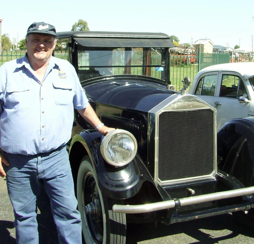 Veteran & Vintage vehicle enthusiast Bob Denny of Allora with ...