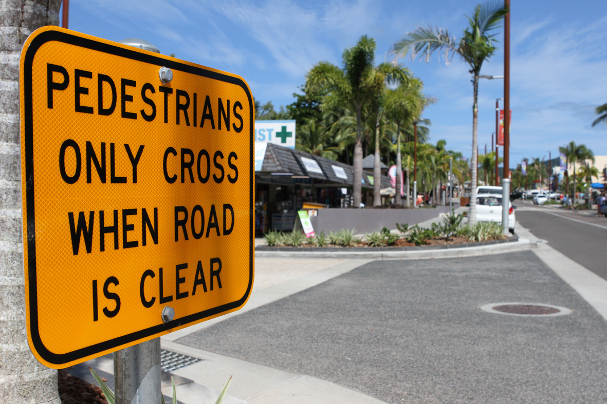 SIGNAGE SOLUTION: Opinons are divided as to whether new signs will improve safety on the Airlie Beach main street.