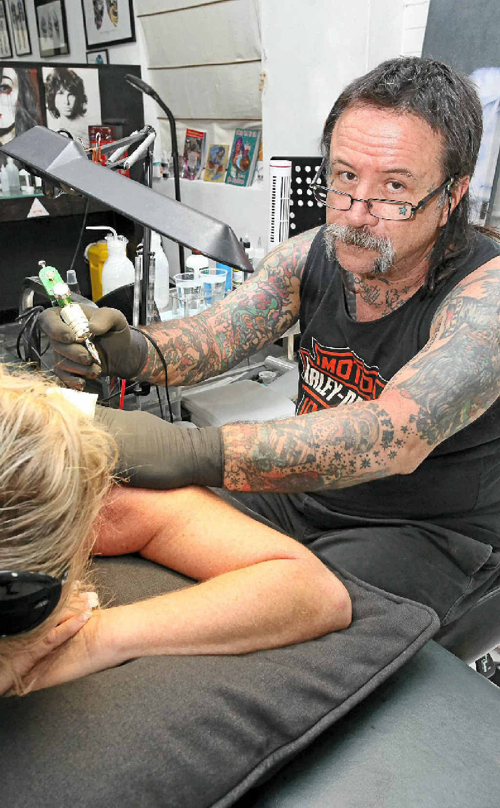 BAD FOR BUSINESS: Angelo Garozzo of Caloundra Tattoo Studios may have to close the doors on his business if the current VLAD laws stay in effect.
