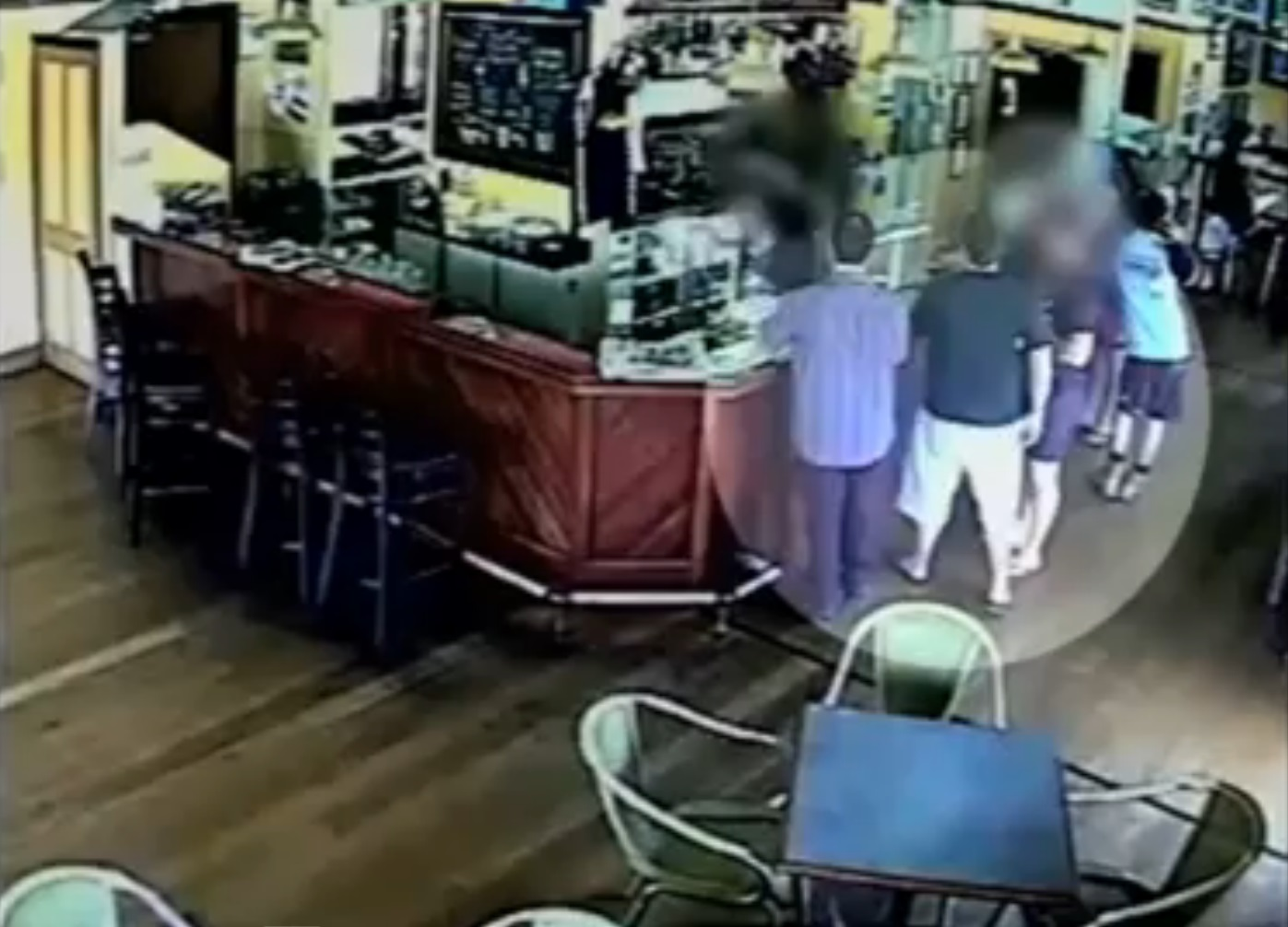 CCTV footage from the Yandina Hotel.