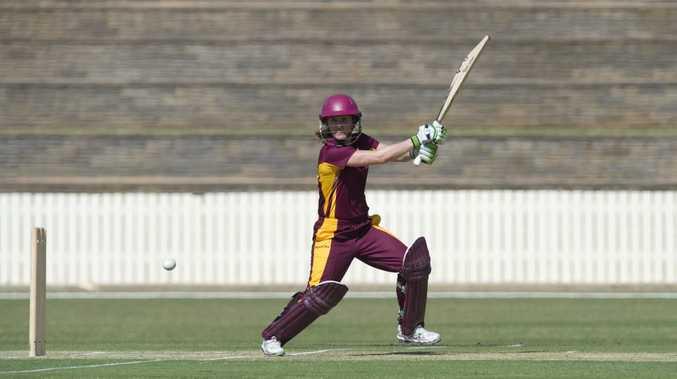 Jodie Fields bats for Queensland.