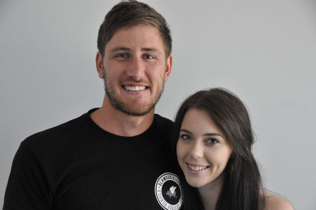 Luke Hine and Katelyn Shearing are happily engaged.