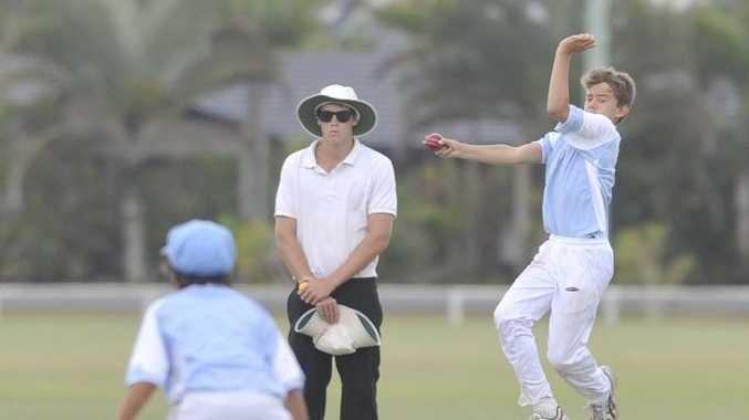 Max Freer (bowler) Ballina Under 13 Cricket carnival. Ballina Vs Brisbane North Photo Mireille Merlet-Shaw / The Northern Star