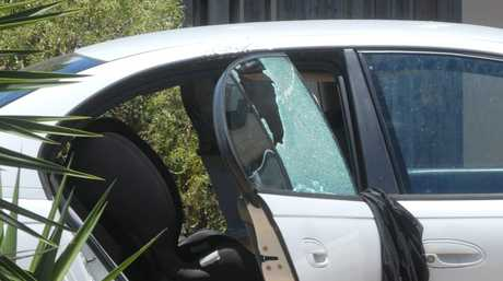 A car was damaged after a shot was fired at a home in Blacks Beach, in Narrabeen St. Photo Pamela Frost / Daily Mercury