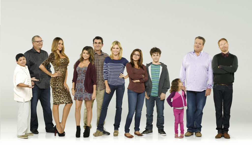 The cast of the TV series Modern Family (s5). Supplied by Network Ten.