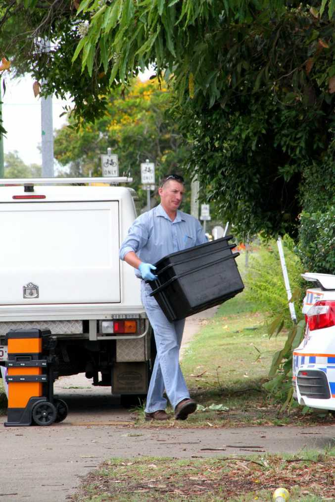 POLICE INVESTIGATE: Bundaberg Police are investigating after a drug lab was allegedly found at a Boundary St home. Photo: Zach Hogg / NewsMail