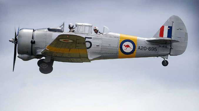 HEADS UP: A Wirraway aircraft at The Great Eastern Fly-In Airshow at Evans Head.