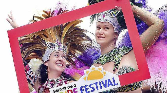 RIO-T OF COLOUR: Samba Del Sol girls Amanda Ferdinand and Jo Pullen get into the spirit of the Sunshine Coast Pride Festival.