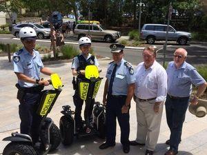 Police bring Segways to Noosa Beach