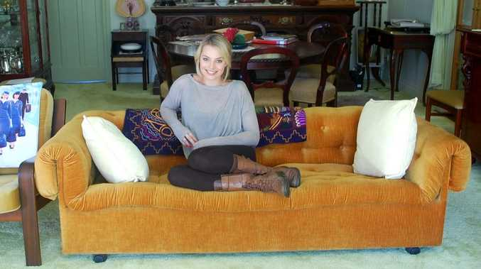 Margot Robbie at her grandparent's house in Dalby, during a visit in 2012.