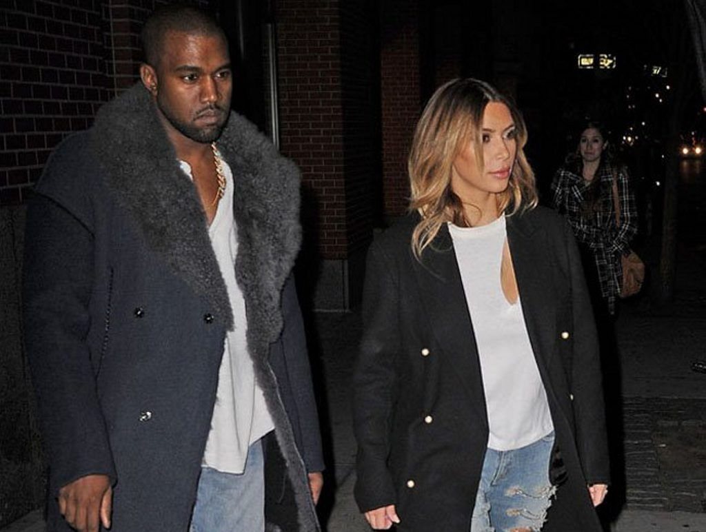 Kim Kardashian and Kanye West in NYC.