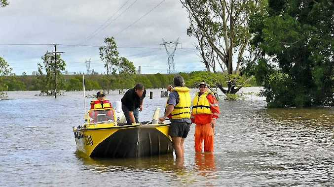 SES volunteers had to rescue some people by boat last year.