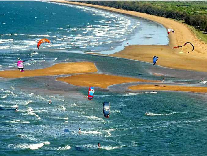 Kite surfing at Agnes Water.