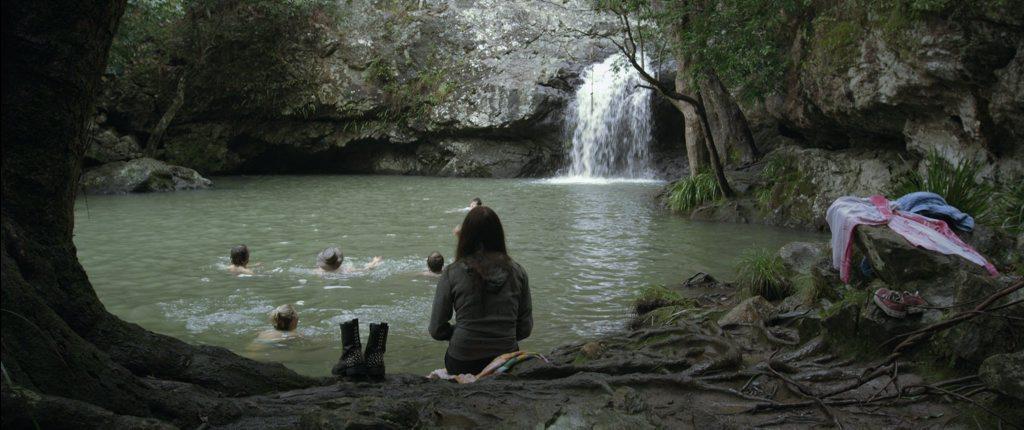 A scene from 500 Miles filmed at Kondalilla Falls at Montville.