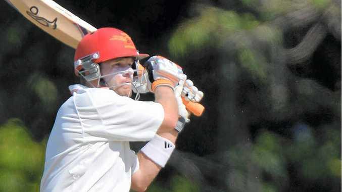 OVERDUE FOR A BIG ONE: Sunshine Coast Scorchers skipper James Henry hooks a boundary against Souths.