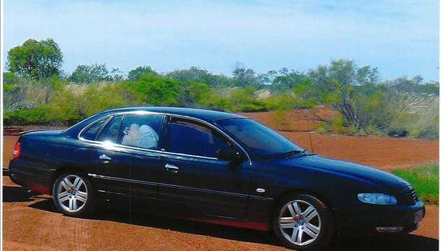 Patrick McInnes is believed to be driving a black 2002 Holden Statesmen, bearing Queensland registration 284TMP.