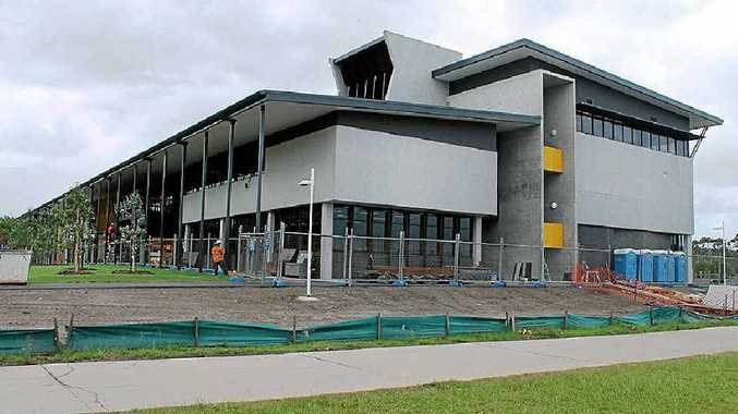 NEARING COMPLETION: The $25 million Sippy Downs Learning Hub at the University of the Sunshine Coast will open next month.