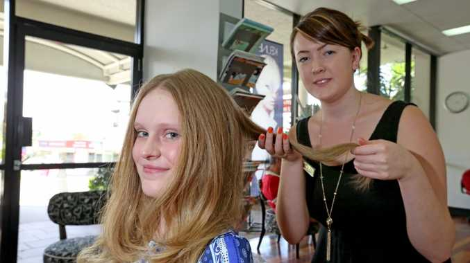 Chelsea Boone getting the trendy Ombre hair style by Ellen Read at Tina's Style Centre in Kingscliff.
