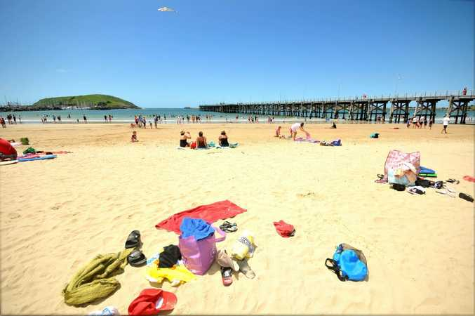 The temperatures may have dropped overnight but warmer weather forecast for the upcoming weekend should see the frolicking on the Coffs Coast beaches become a popular activity.