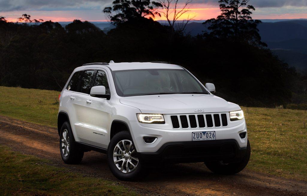The Jeep Grand Cherokee Laredo.