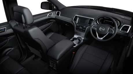 Inside the Jeep Grand Cherokee Laredo.