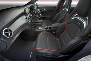 Inside the Mercedes-Benz CLA 45 AMG.