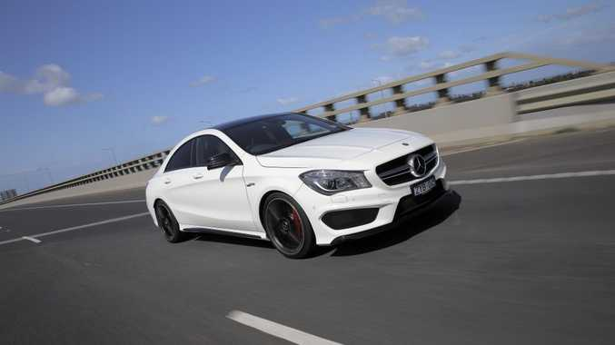 The Mercedes-Benz CLA 45 AMG.