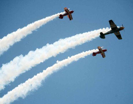 STUNNING: An aerobatics display by The Maxx-G Aerobatics Team at the weekend.