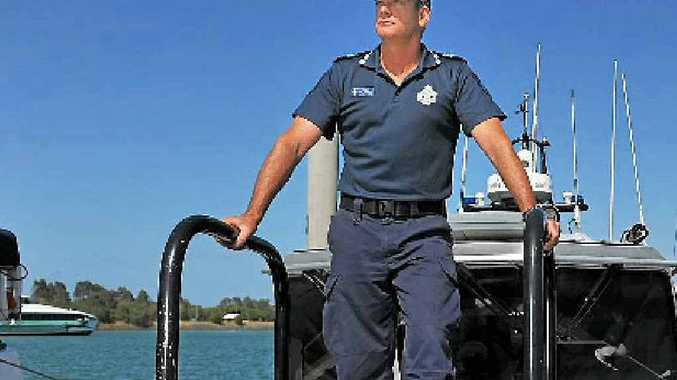 Gladstone Water Police officer-in-charge Sergeant Jeff Barnett.