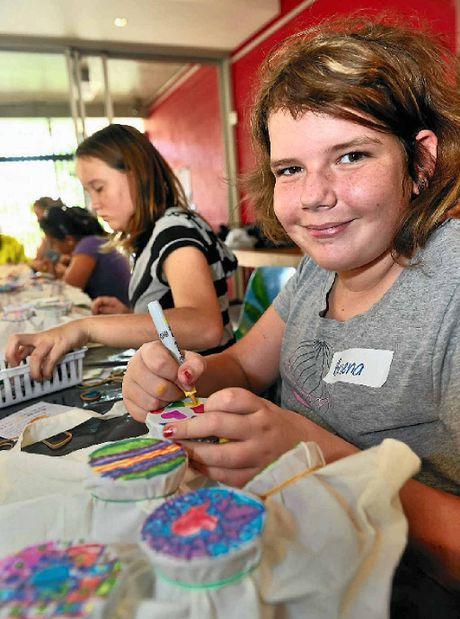 Briena Seawright, 12, enjoying SUNfest.