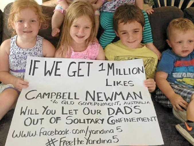 FAMILY PLEA: The Yandina Five Facebook posting.