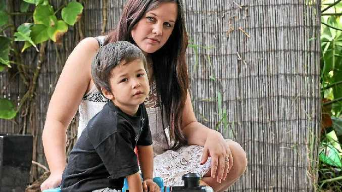 URGENT ACTION: Nikki Owers is taking her son Xavier, 3, to a private doctor in Gympie for an operation on his tonsils after having been told there was a long wait to have the surgery at Nambour Hospital.
