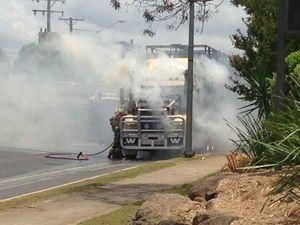 VIDEO: Driver praises firies' response to range truck fire
