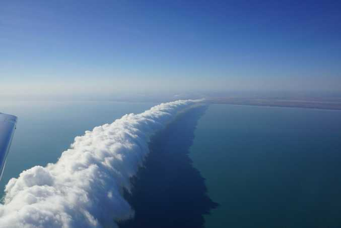 The morning glory cloud formation, considered the holy grail of gliding.