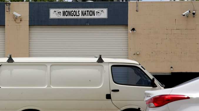 Mongols Nation sign above a property on Morton St.