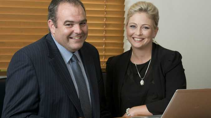 Queenscorp Insurance Services managing principal Michael Parker and client executive Bronte Neville.