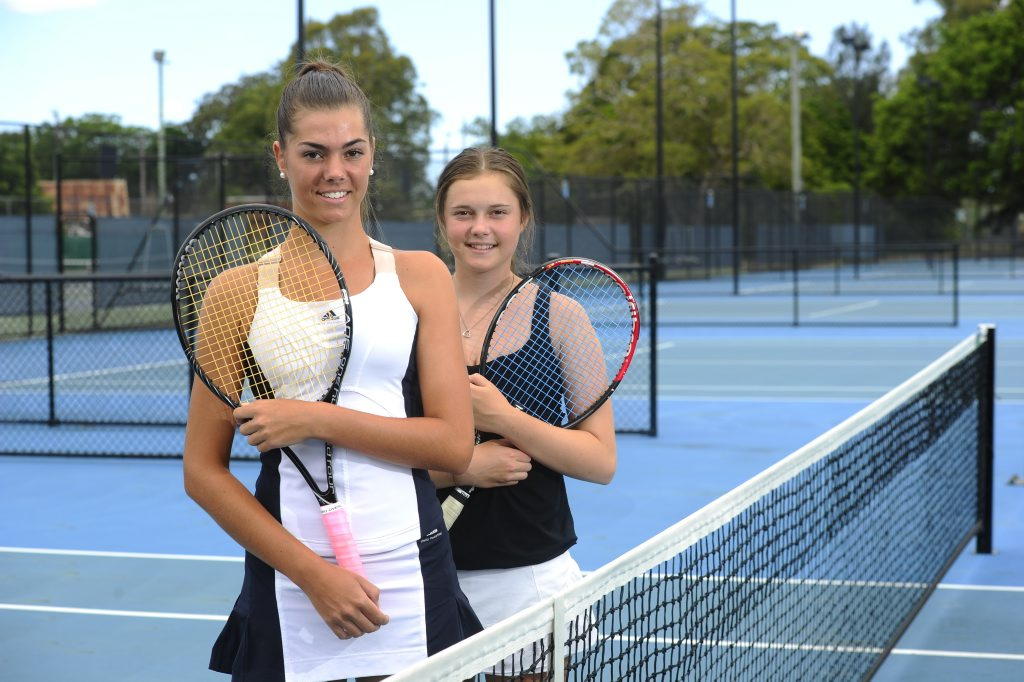 Taylah Beckman, 16, and Georgia Allen, 14, have just come back from competing in a tournament in Ballina. Photo JoJo Newby / The Daily Examiner