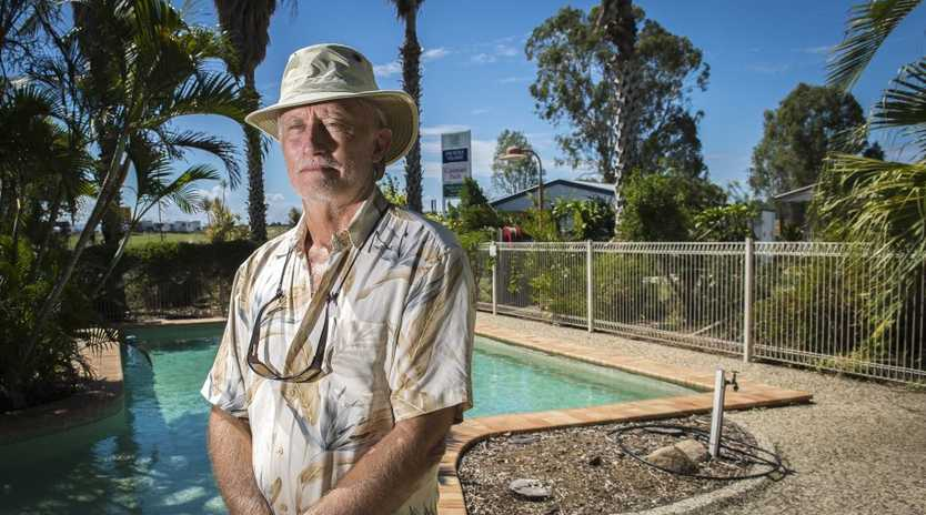 Monte Olsen of Kin Kora Village Caravan and Residential Home Park is frustrated by free rest areas affecting his business.