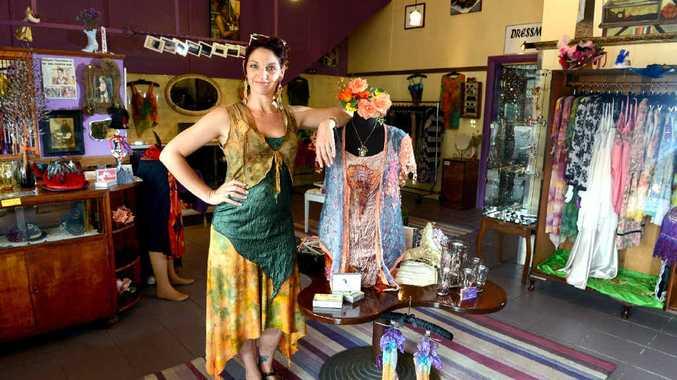 ARTY: Jeht Burgoyne at her shop Flourish Designs in South Lismore.