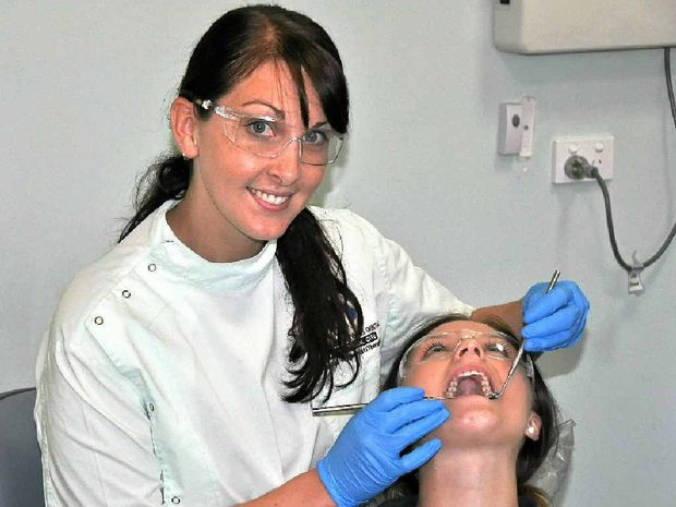 SAY AHHH Southern Downs Dental Hygienist Sarah Geisel Has Returned To Work At Her Familys