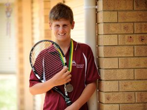 Tennis teen showing his skills in Melbourne