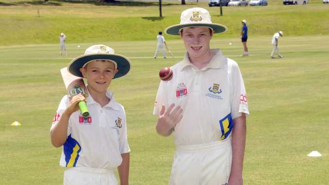 Country visitors Will Graham and Nicholas Carroll at the annual Toowoomba Grammar School Cricket Camp.