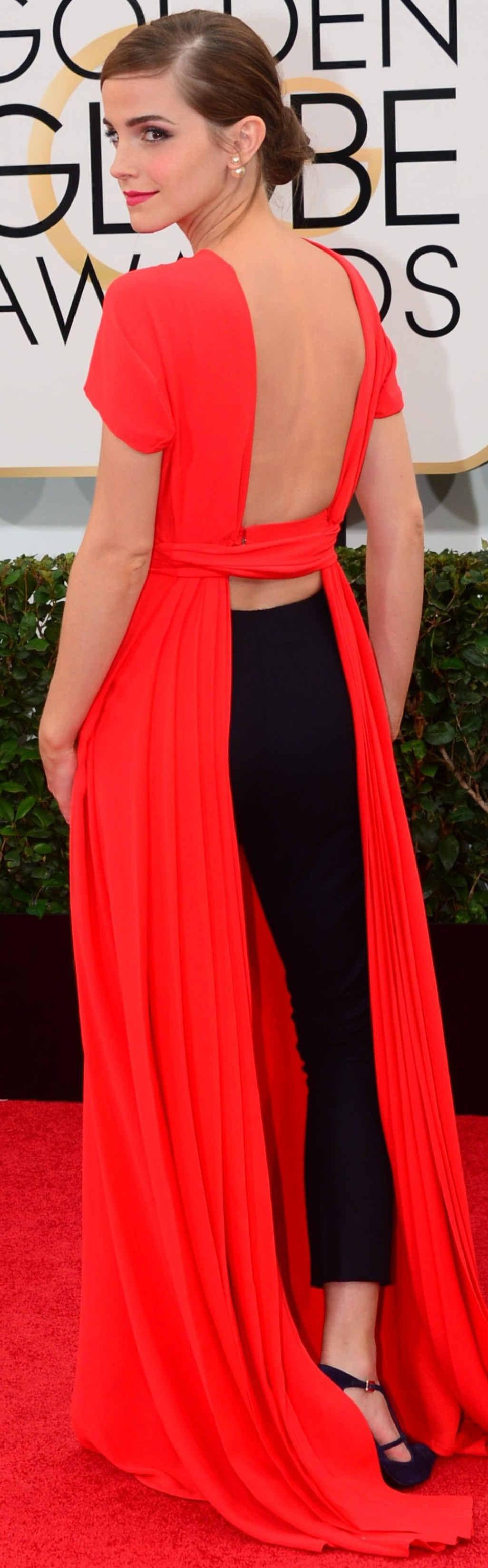 Emma Watson in eye-catching pants.