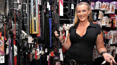 Melinda Slingsby with some of the sex toys and accessories available at her Diva's Den store. Mackay has topped the nation for sales of sex toys with online company Femplay.