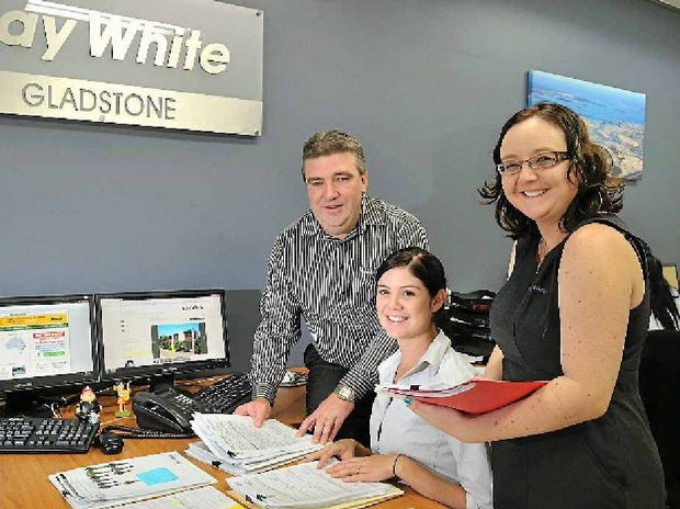 Ray White Property management and leasing director John Fieldus with property manager Kristan Lacey and admin assistant Dani Verdouw assess the rental vacancy situation.