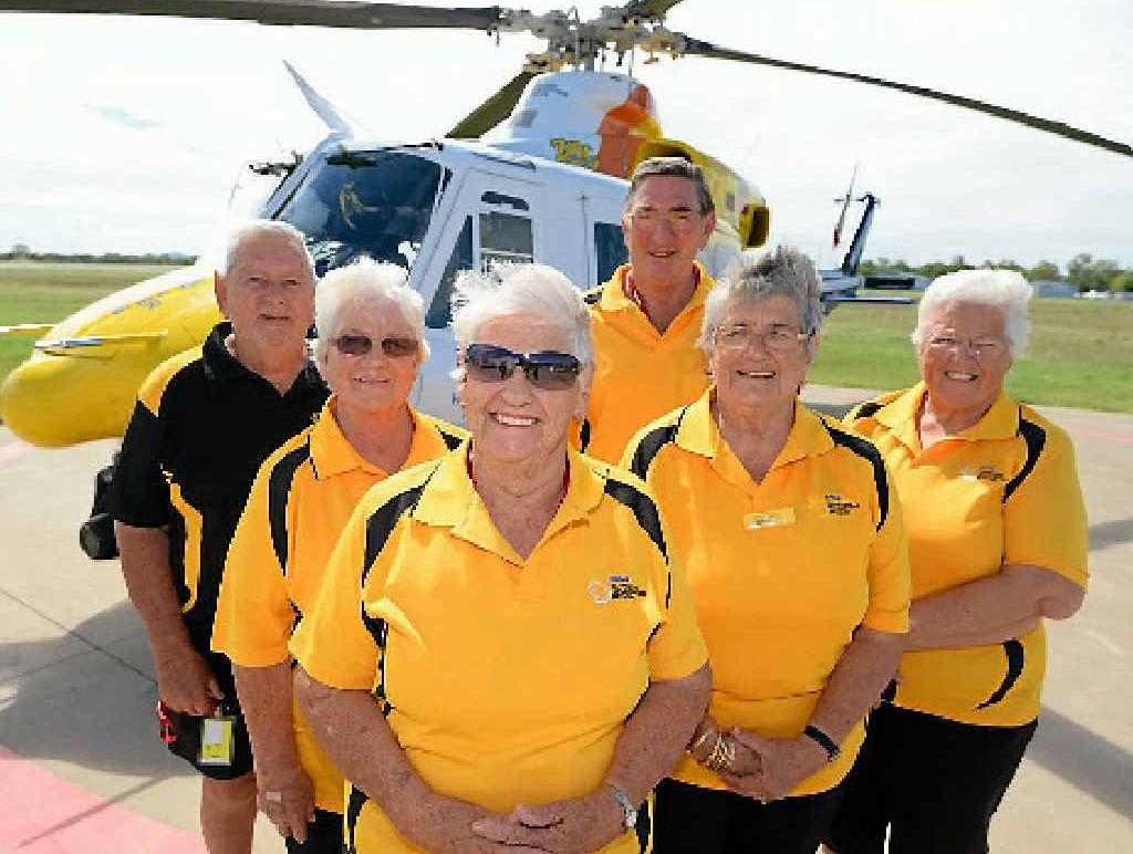 AIR ANGELS: RACQ Capricorn Helicopter Rescue volunteers Vince Reynolds, Desiree Reynolds, Jan Barrett, Stan Mutch, Dee Swindale and Monica Mutch.